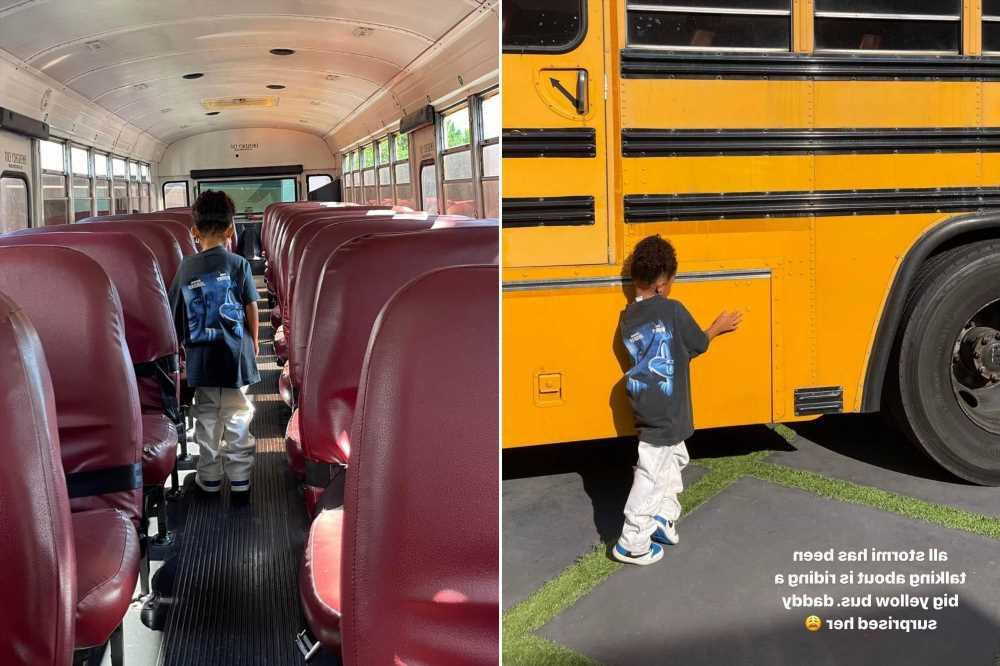 Travis Scott surprising Stormi with a school bus sparks hilarious reactions