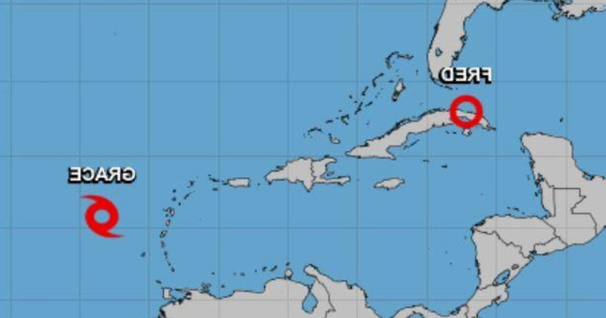 Tropical Storm Grace forms as Fred threatens Florida with heavy rain