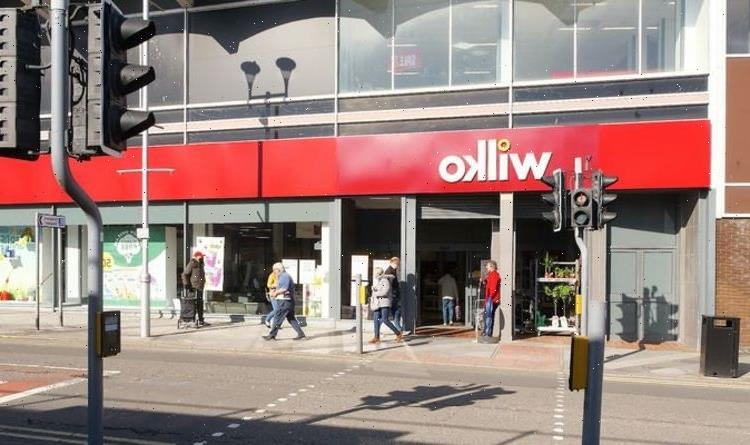 Wilko slash 50 percent off household products and storage furniture