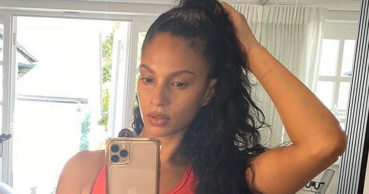 Alesha Dixon wows fans as she flaunts abs in crop top as she works out at home