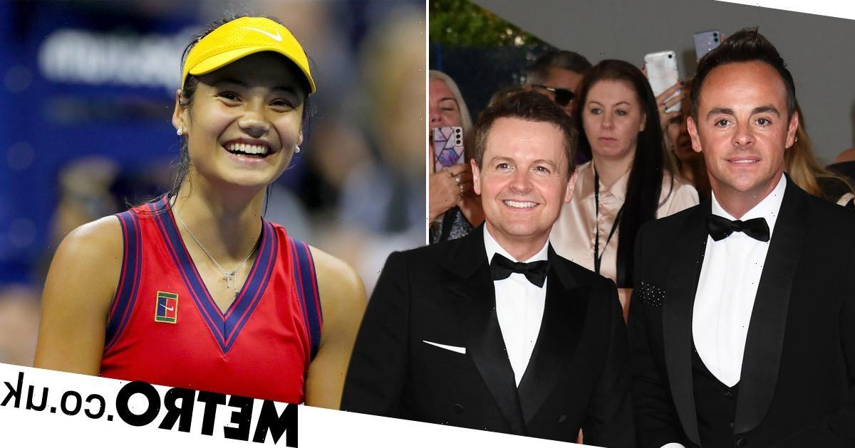 Ant and Dec lead stars cheering on Emma Raducanu for US Open final