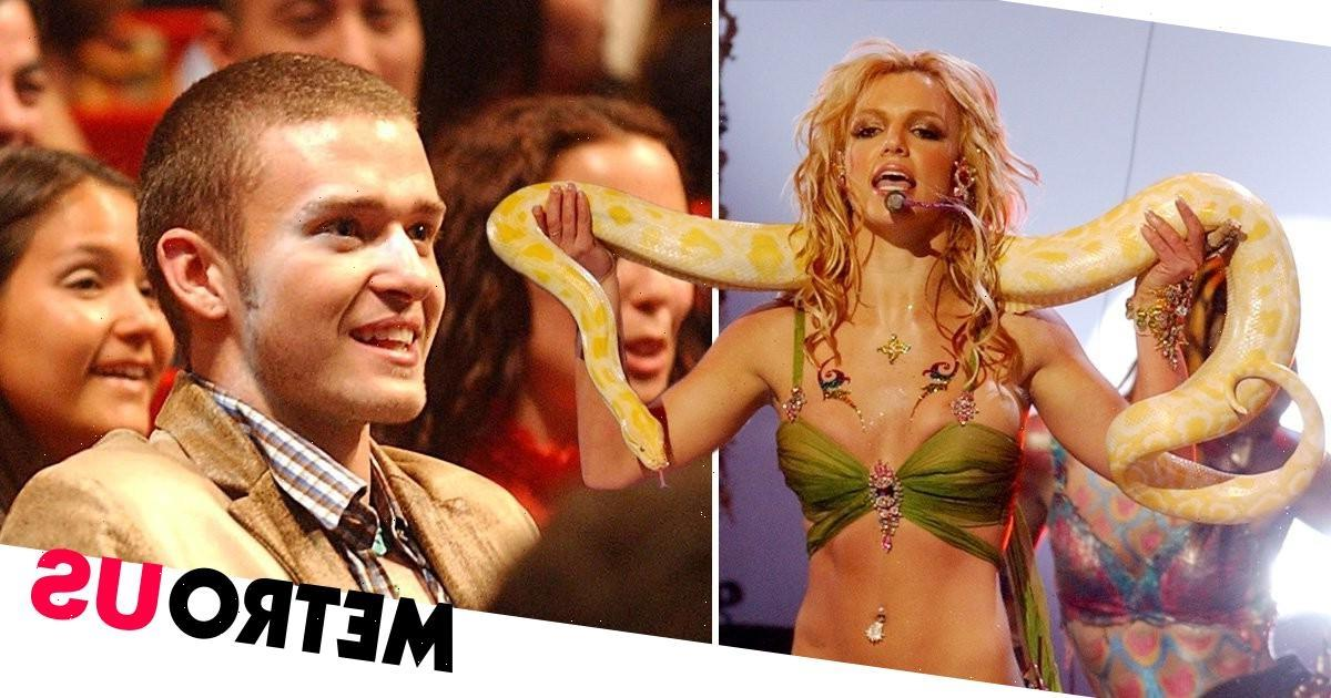 Britney Spears' pep talk from Justin Timberlake before iconic VMAs performance