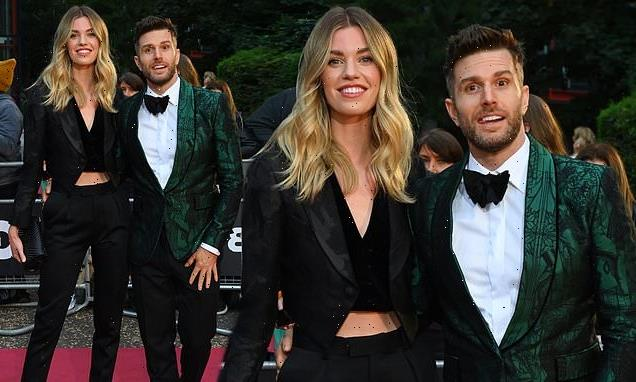 GQ Awards 2021: Joel Dommett and Hannah Cooper step out in suits