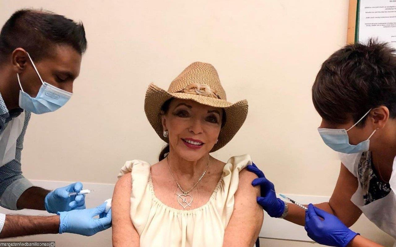 Joan Collins Encourages Others to Get COVID-19 Vaccine Booster After Receiving Hers