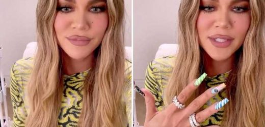 Khloe Kardashian looks unrecognizable with blue eyes and tiny nose in new video after being 'BANNED' from Met Gala