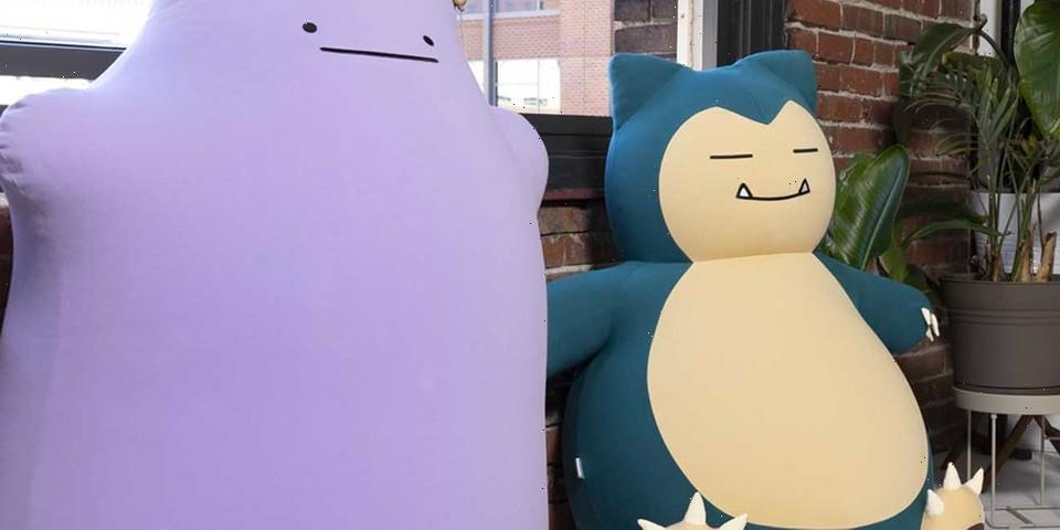 """Pokémon Center Launches """"Snorlax"""" and """"Ditto"""" Bean Bag Chairs"""