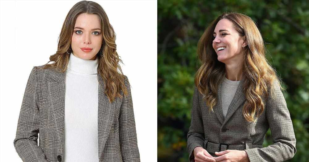 Recreate 1 of Duchess Kate's Most Recent Looks With This Plaid Blazer