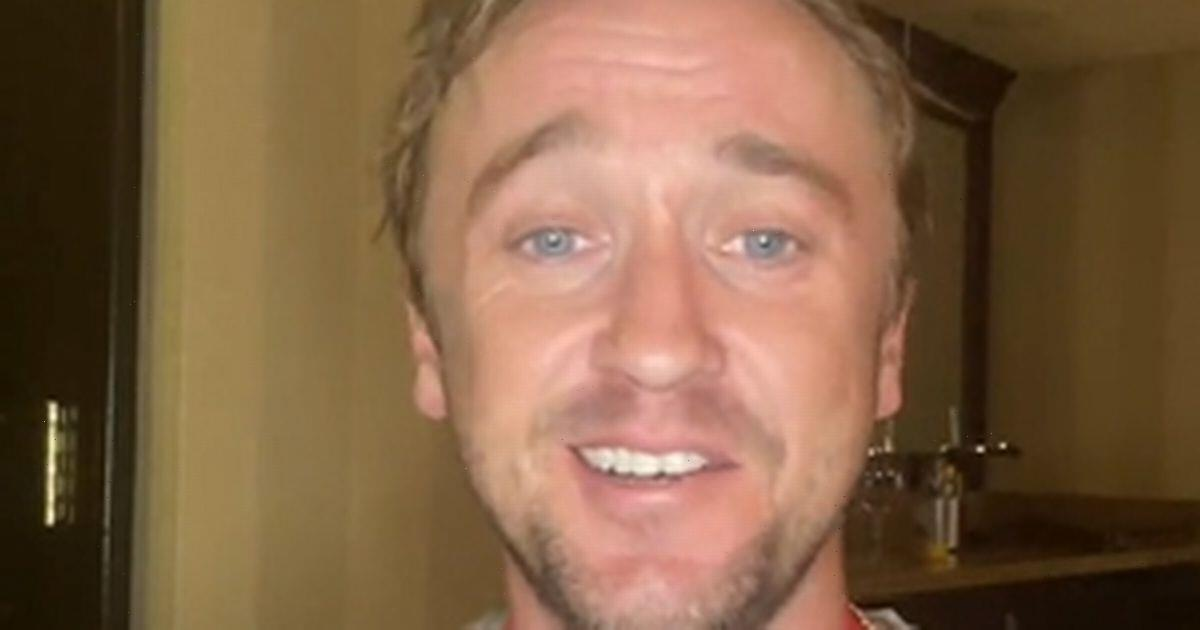 Tom Felton reassures fans he is 'on the mend' after 'scary' golf course collapse
