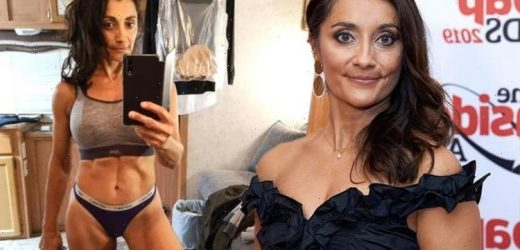 Emmerdales Rebecca Sarker poses in pants as she teases more thrills and spills to come