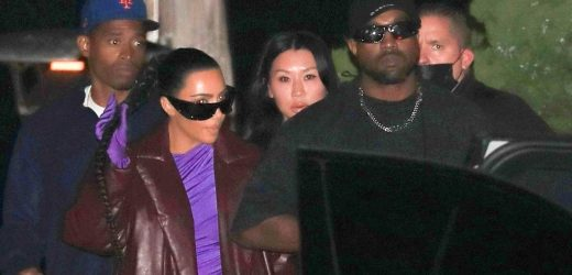 Kim Kardashian, Kanye West Reunite for Dinner with Friends in Malibu