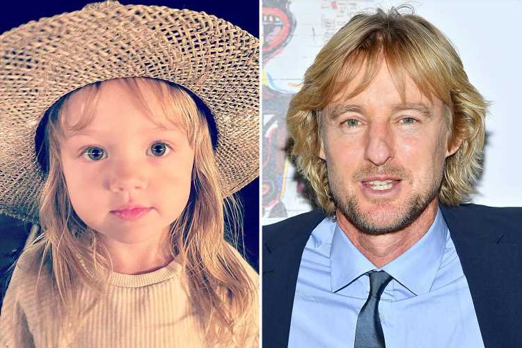 Owen Wilson's daughter Lyla looks just like dad she's 'never met' in rare photo as his ex celebrates tot's 3rd birthday
