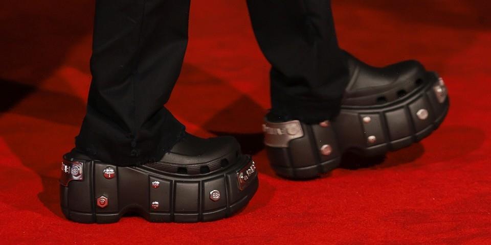 Take a Closer Look at Balenciaga's Upcoming Bolt-Embellished Crocs Platform Clog