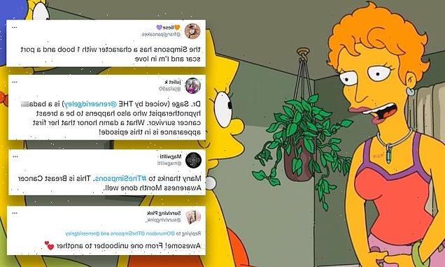 The Simpsons win praise for new breast cancer survivor character